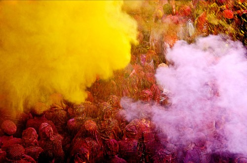 PINK & YELLOW SHOWER - J. SINGH