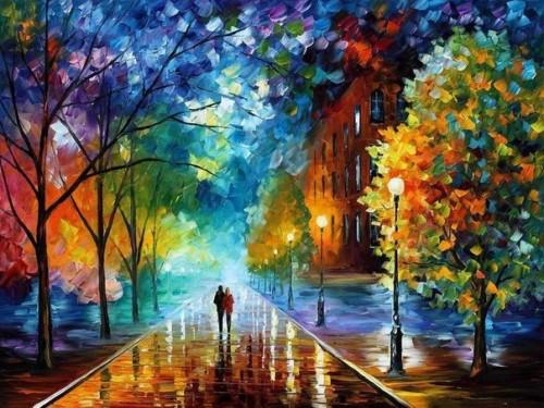 Осень в картинах Леонида Афремова