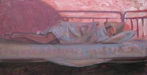 К. Поляков утро в палате; холст,масло, 2012г.