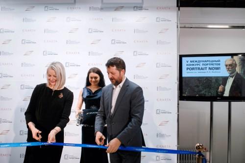 Метте Скоугард и Алексей Кедрин на открытии выставки в Эрарте