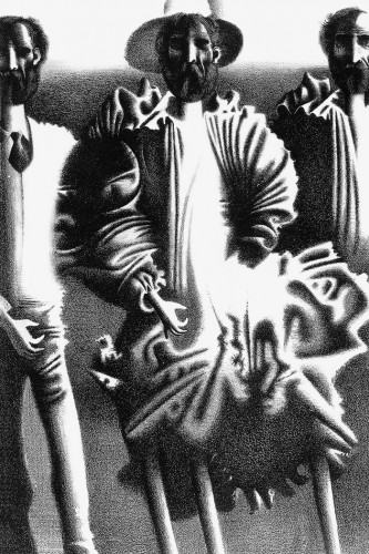 Фауст. Люди. Литография. 1980