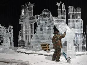 Фестиваля ледовых скульптур в Петропавловской крепости