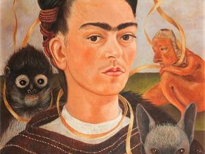Фрида Кало. Автопортрет с обезьянкой. Из Музея Долорес Ольмедо, Мехико