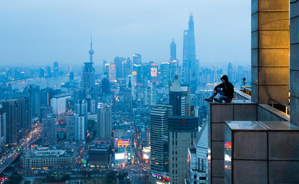 На краю. Шанхай, Китай. 2014 год. Виталий Раскалов.