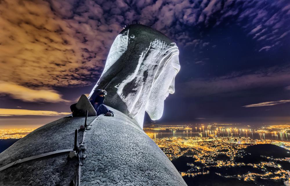 Статуя Христа Искупителя в Рио-де-Жанейро. Вадим Махоров.