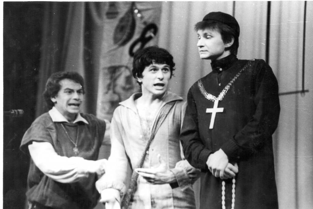 """Сцена из спектакля """"Мандрагора"""", 1983 год."""