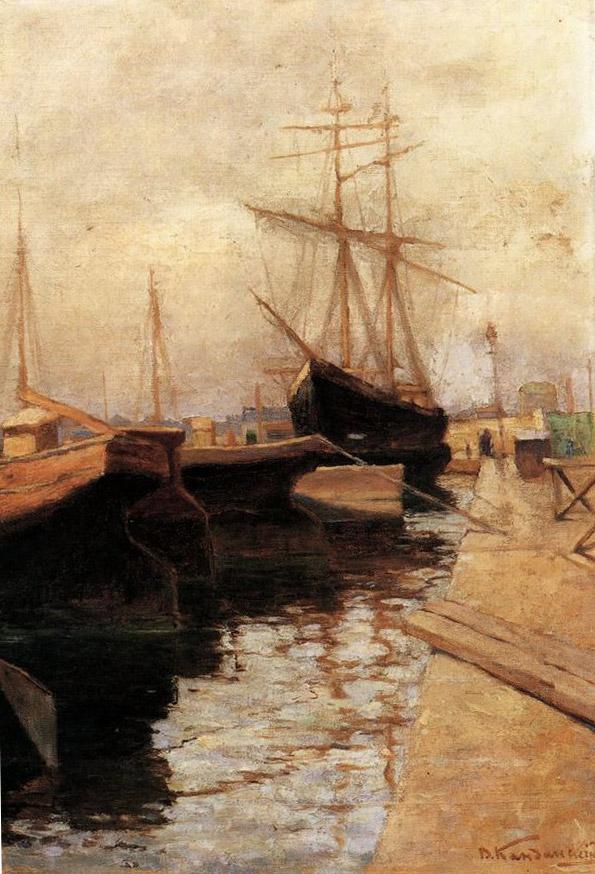 Кандинский. Одесский порт.