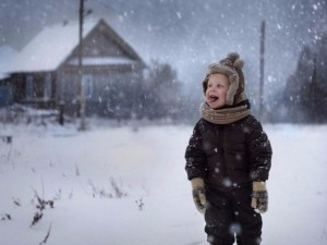 Зимние фото о счастливом детстве в деревне